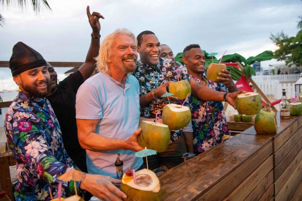 EDITORIAL USE ONLY Sir richard Branson at the launch of Virgin Holidays Departure Beach in Barbados. PRESS ASSOCIATION Photo. Picture date: Saturday December 8, 2018. Virgin Holidays Departure Beach is designed to bridge the gap between hotel check-out and airport check-in. Photo credit should read: Matt Crossick/PA Wire